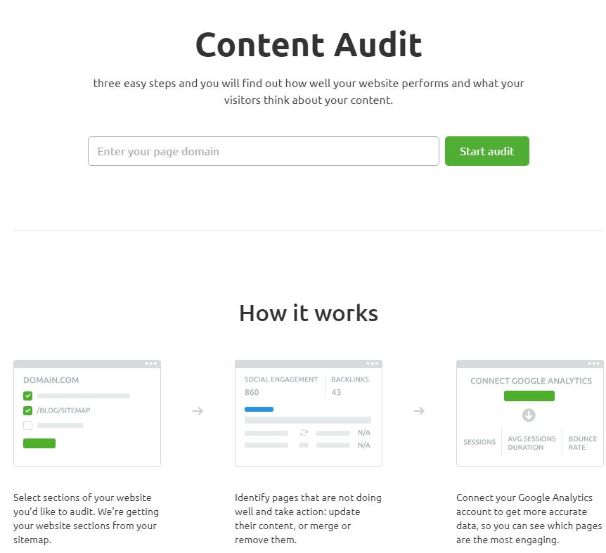 semrush content audit