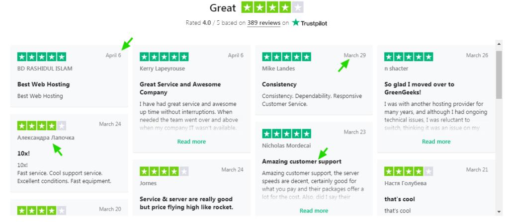 greengeeks-review-on-blogimize.com-trust-pilot-review