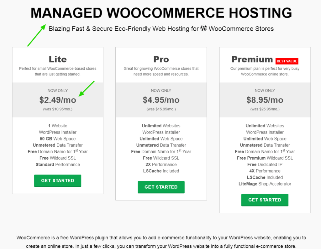 greengeeks woocommerce hosting and pricing hosting.png